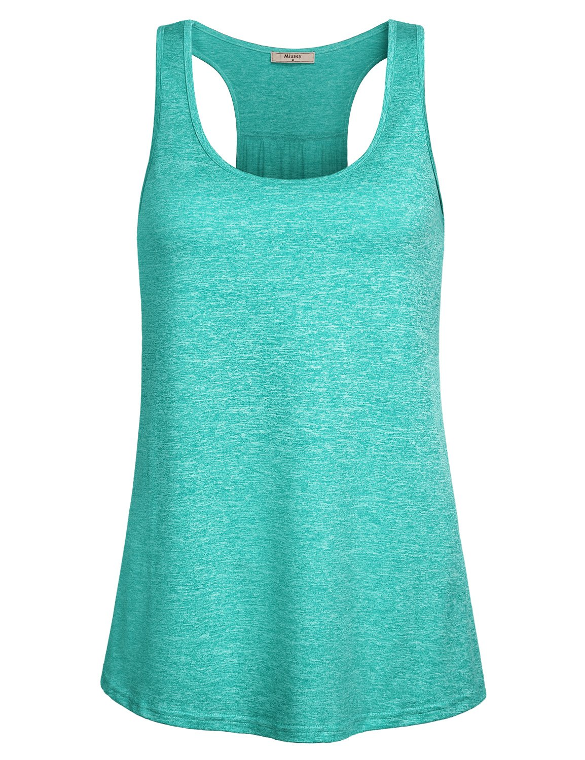 Miusey Gym Tops Racerback Design Round Neck Sleeveless Army Camouflage Yoga Sports Stretchy Lightweight Comfy Breathable Cool Workout Tank Green M