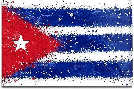 Bandera de Cuba – Abstracto Acuarela Splatter: Amazon.es: Hogar