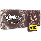 Kleenex - Ultra Soft, Fazzoletti, Meravigliosamente soffice e setoso - 10 pacchetti