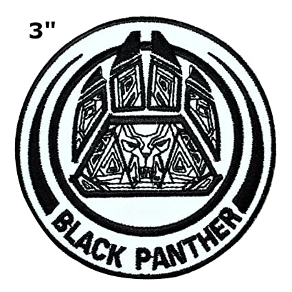 amazon com black panther patch wakanda marvel comics superhero rh amazon com black panther logo png black panther logo shirts