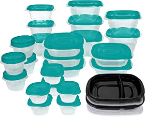 Rubbermaid TakeAlongs Meal Prep 50-Piece Food Storage Containers, Teal