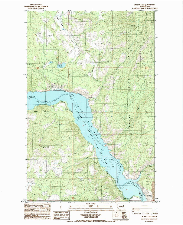 Amazon Com Yellowmaps Mc Coy Lake Wa Topo Map 1 24000 Scale 7 5