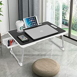 Laptop Desk, CHARMDI Portable Laptop Bed Tray Table, Notebook Stand Reading Holder,Couch Table,Bed Desk with Handle for Reading Book, Watching Movie on Bed/Couch