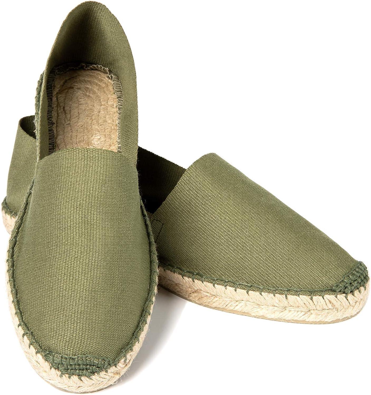Handmade in Spain 7-11.5 weltenmann Classic Men Cotton Slip-on Espadrilles with Cotton Bag