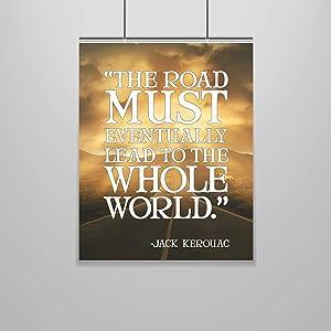 Jack Kerouac Quote Poster – 16 x 20 – Motivational – Inspirational – Growth Mindset – English Teacher – Literature - Dorm Room Decor – School Poster – Classroom Poster – Teen Room – Dorm Wall Art