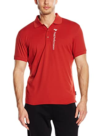 PEAK PERFORMANCE Polo G Tech PIQ Rojo S: Amazon.es: Ropa y accesorios