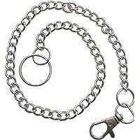Länkkedja nyckelkedja plånbok kedja metall byxkedja med karbinhake kedja 45 cm