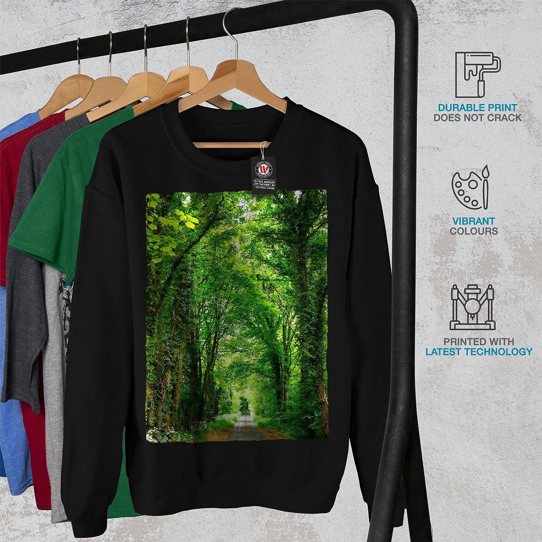 Venice Casual Jumper wellcoda Green Forest Road Mens Sweatshirt