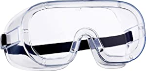 NoCry Non-Vented Protective Goggles for Men and Women with Anti-Fog Coating, Clear Scratch-Resistant Lenses, Adjustable Strap, Universal OTG Fit and an ANSI Z87.1 Rating