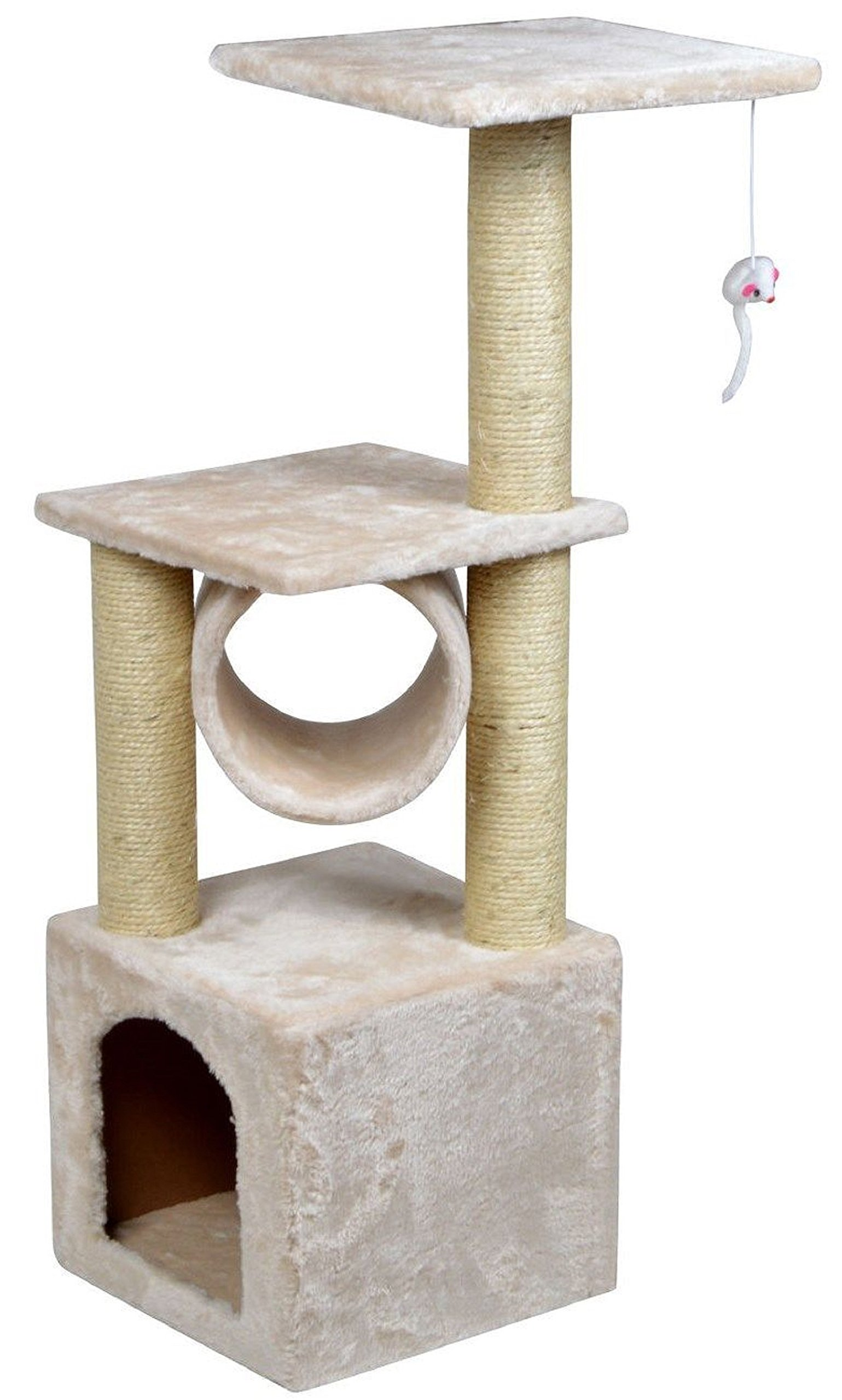 NEW! 36'' Deluxe Cat Tree Condo Furniture Scratching Post Kitten Pet Play W/Toy House