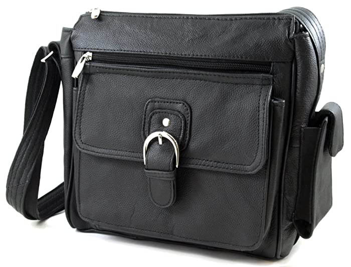 1. Genuine Leather Pistol Concealment Purse with Buckle