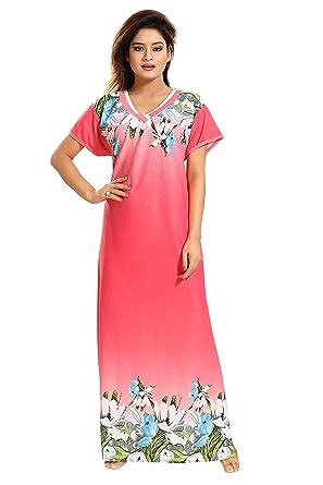 TUCUTE Girls Women s Night Gown Nightwear Nighty Nightdress with Floral  Print Border 76a464453