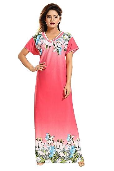 727eecdaf4c TUCUTE Girls Women s Night Gown Nightwear Nighty Nightdress with Floral  Print Border