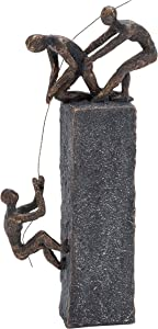Deco 79 Poly-Stone Sculpture, 7 by 17-Inch