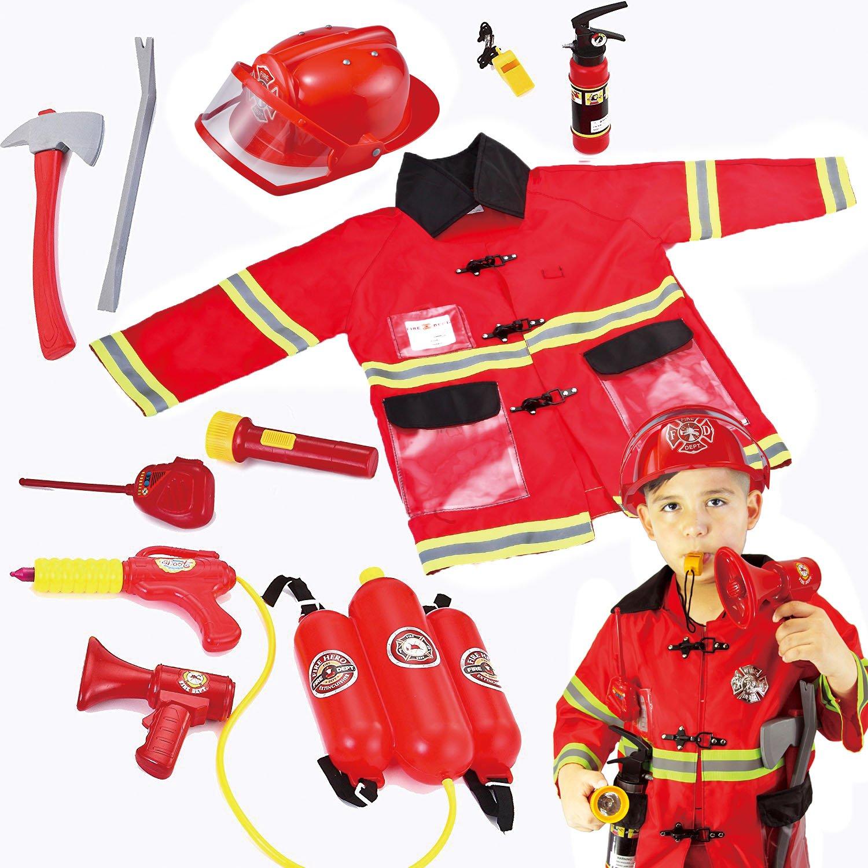 JOYIN Toy Kids Fireman Fire Fighter Costume Pretend Play Dress-up Toy Set by JOYIN