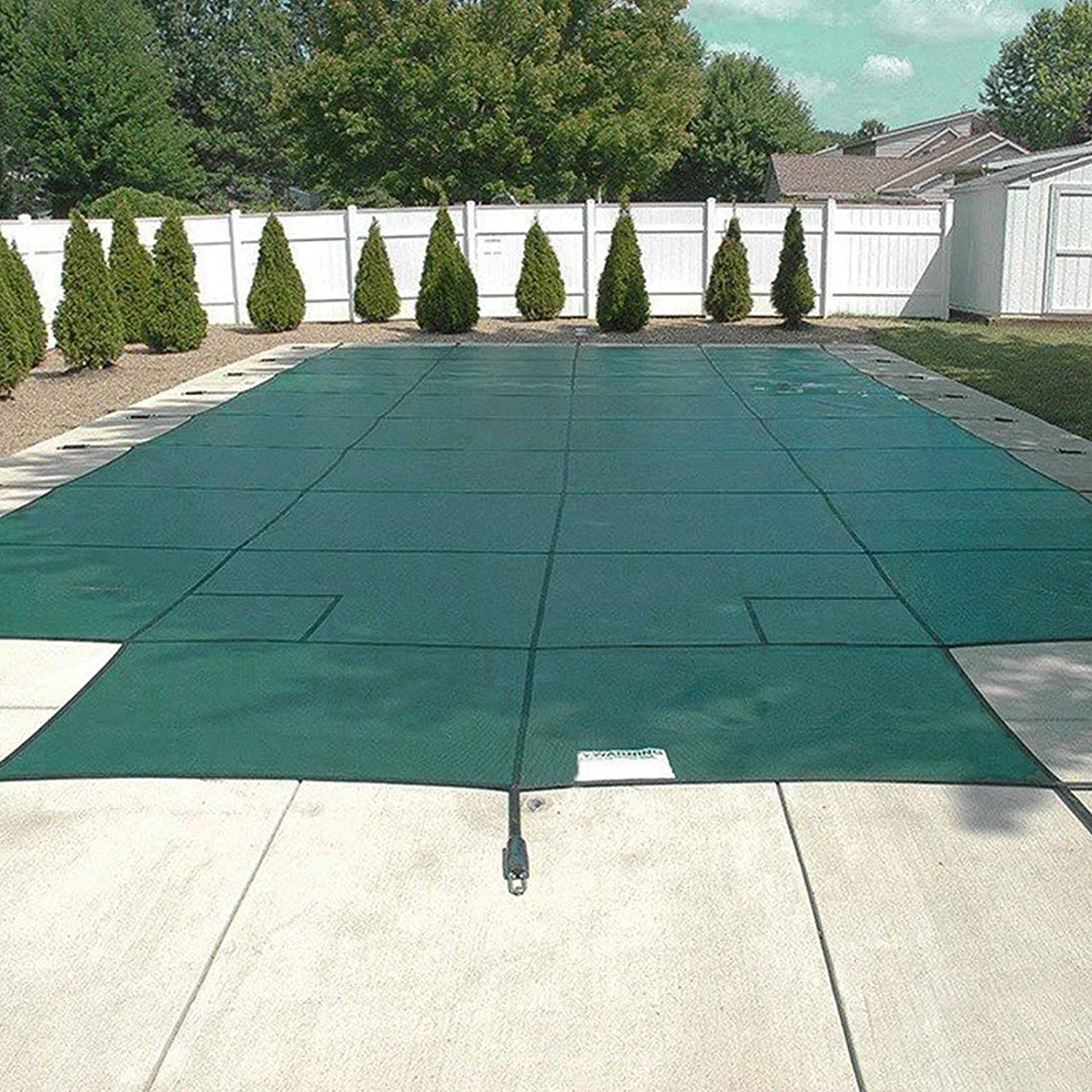 Happybuy Pool Safety Cover Fits 20x40ft Rectangle Inground Safety Pool Cover Green Mesh