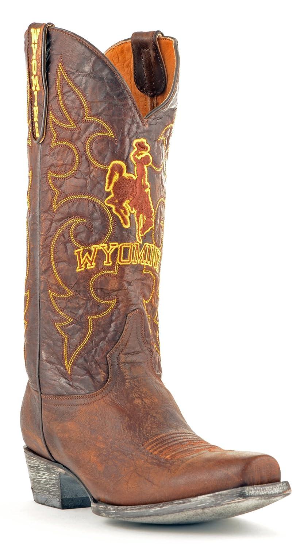 NCAA Wyoming Cowboys Herren Boardroom Style Stiefel, Herren, WY-M147