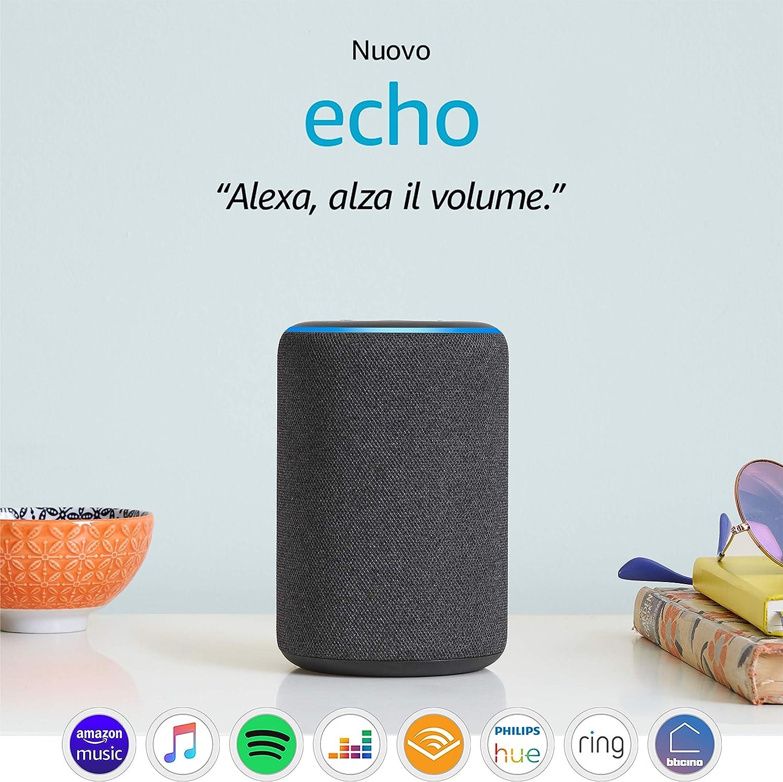 Nuovo Amazon Echo (3� generazione) - Altoparlante intelligente con Alexa - Tessuto antracite: Amazon.it