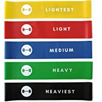 Resistance Loop Bands - Elevans Premium Exercise Bands Set of 5 for Yoga, Pilates, and Strength Training - Designed in Canada