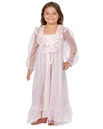 a412d453c Amazon.com  Laura Dare Little Girls Sleepy Time Princess Peignoir Gown and  Robe  Clothing