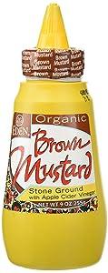 Eden Organic Brown Mustard, 9 oz Squeeze Bottle, Stone Ground, with Organic Apple Cider Vinegar
