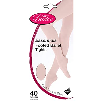 1338ff5b23b9c Silky Womens/Ladies Dance Essential Full Foot Tights (1 Pair): Amazon.co.uk:  Clothing