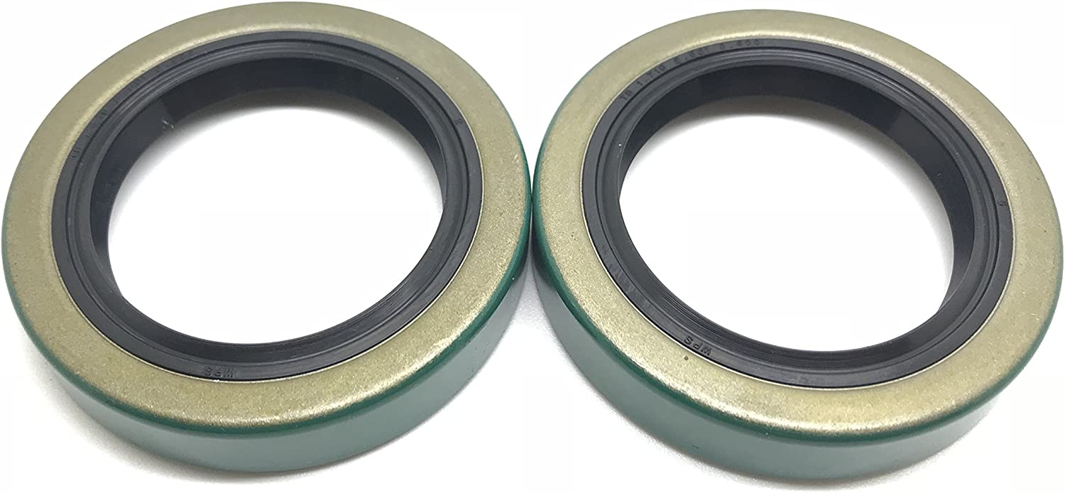 (Pack of 2) WPS (TM) Trailer Axle Hub Wheel Grease Seal 171255TB 3500# E-Z Lube Axle 1.719'' X 2.565'' 10-19