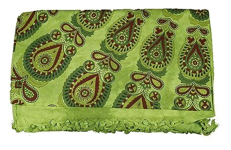 Toalla Playa multiusos algodón colcha para sofá con flecos varios colores pavo real 210 x 240