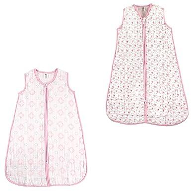info for 4348d 4279b Hudson Baby Safe Sleep Wearable muslin Sleeping Bag, 2 Pack, Damask/Pink  Sheep, 18-24 Months