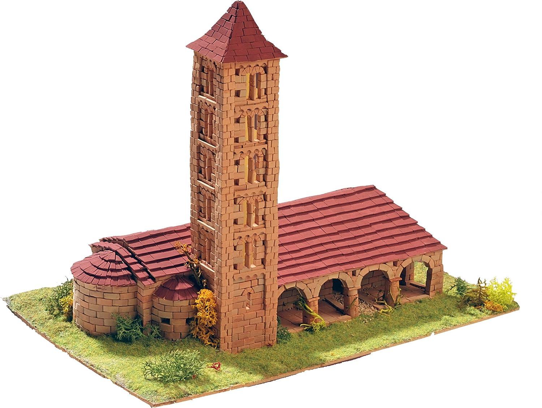 Keranova- Kit de cerámica Iglesia de Santa Eulalia, Color marrón (30106)