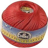 DMC Petra Yarn, 100 Percent Cotton, Bright Red, Size 5