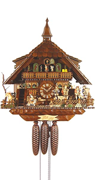 german cuckoo clock chaletstyle inch authentic black