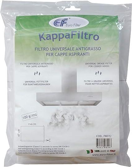 Euro Filter - Filtro Kappa universal antigrasa con indicador de saturación para campanas extractoras, 47 x 114 cm, recortable: Amazon.es: Grandes electrodomésticos