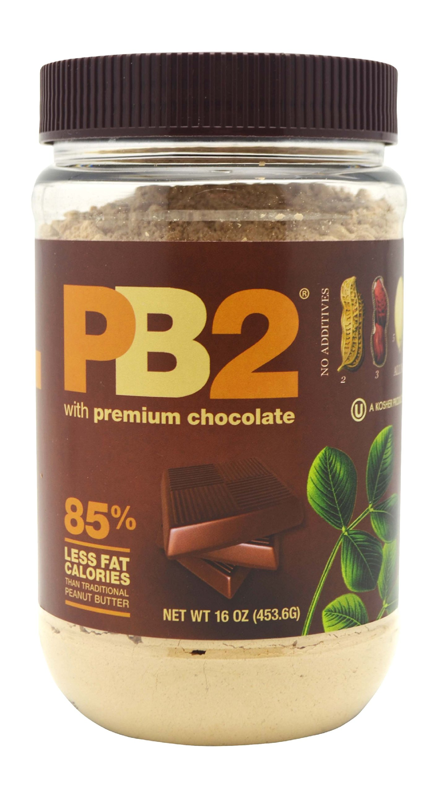 Bell Plantation PB2 Powdered Peanut Butter with Chocolate, 1 Pound