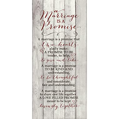 A Marriage Is A Promise 6 x 9 Wood Plank Look Wall Art Plaque