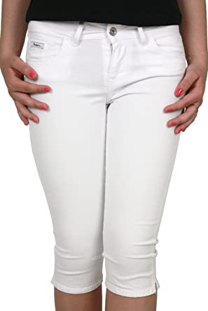 Pepe jeans - Pantacourt femme RITZ blanc: