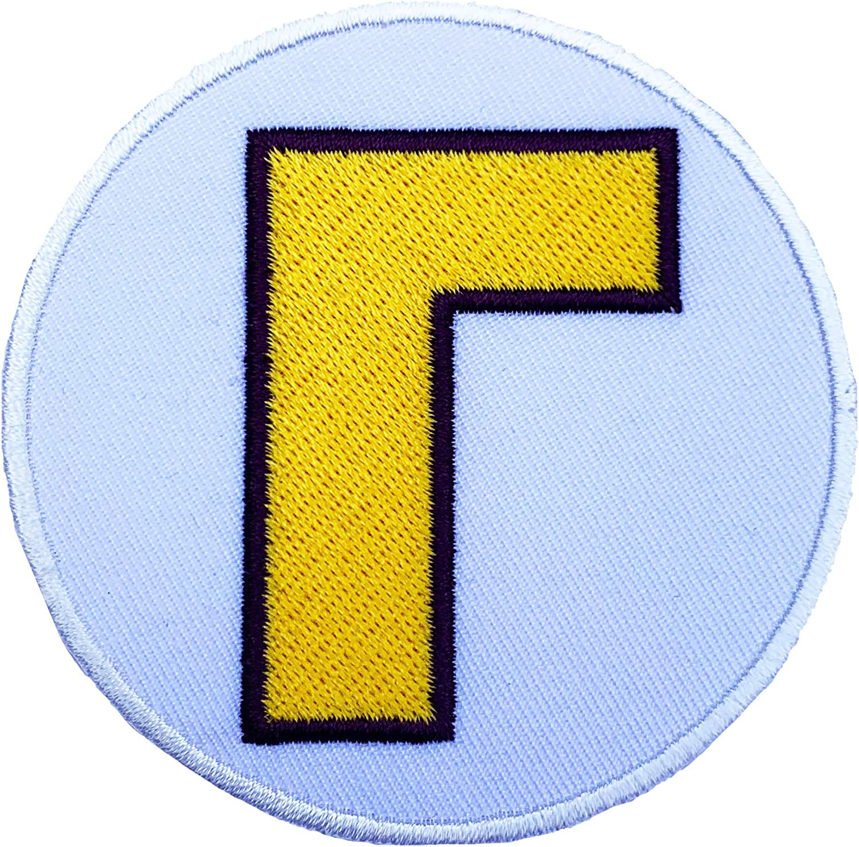 Waluigi Patch bordado iron/Sew On Badge Applique disfraz Fancy ...