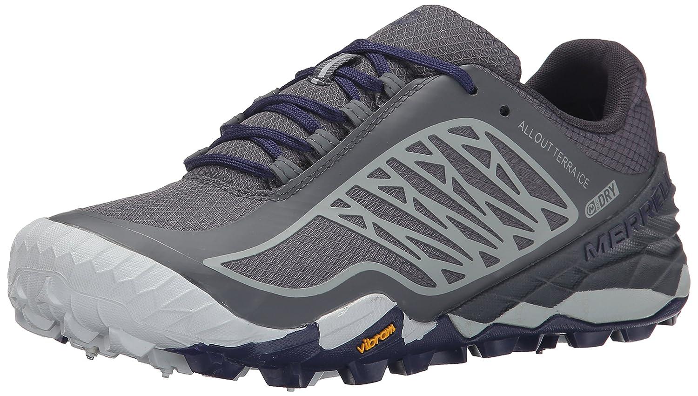 Merrell Women's All Out Terra Ice Waterproof Trail Running Shoe B00RDJF9R0 6 B(M) US Grey/Royal Blue