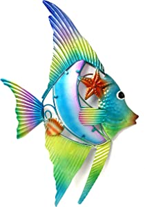 Bejeweled Display® Fish w/ Glass Wall Art Plaque & Home Decor