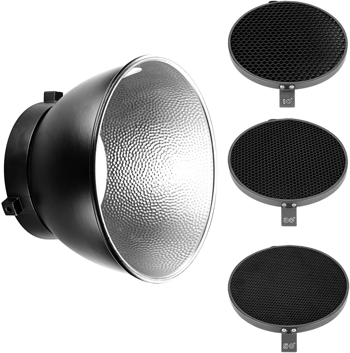 etc Standard Lamp Shade Kit with 60 Degree Honeycomb Grid /& Soft Diffuser Cover for Portrait Art Pets Flowers fosa 7in Standard Reflector for Bowens Mount