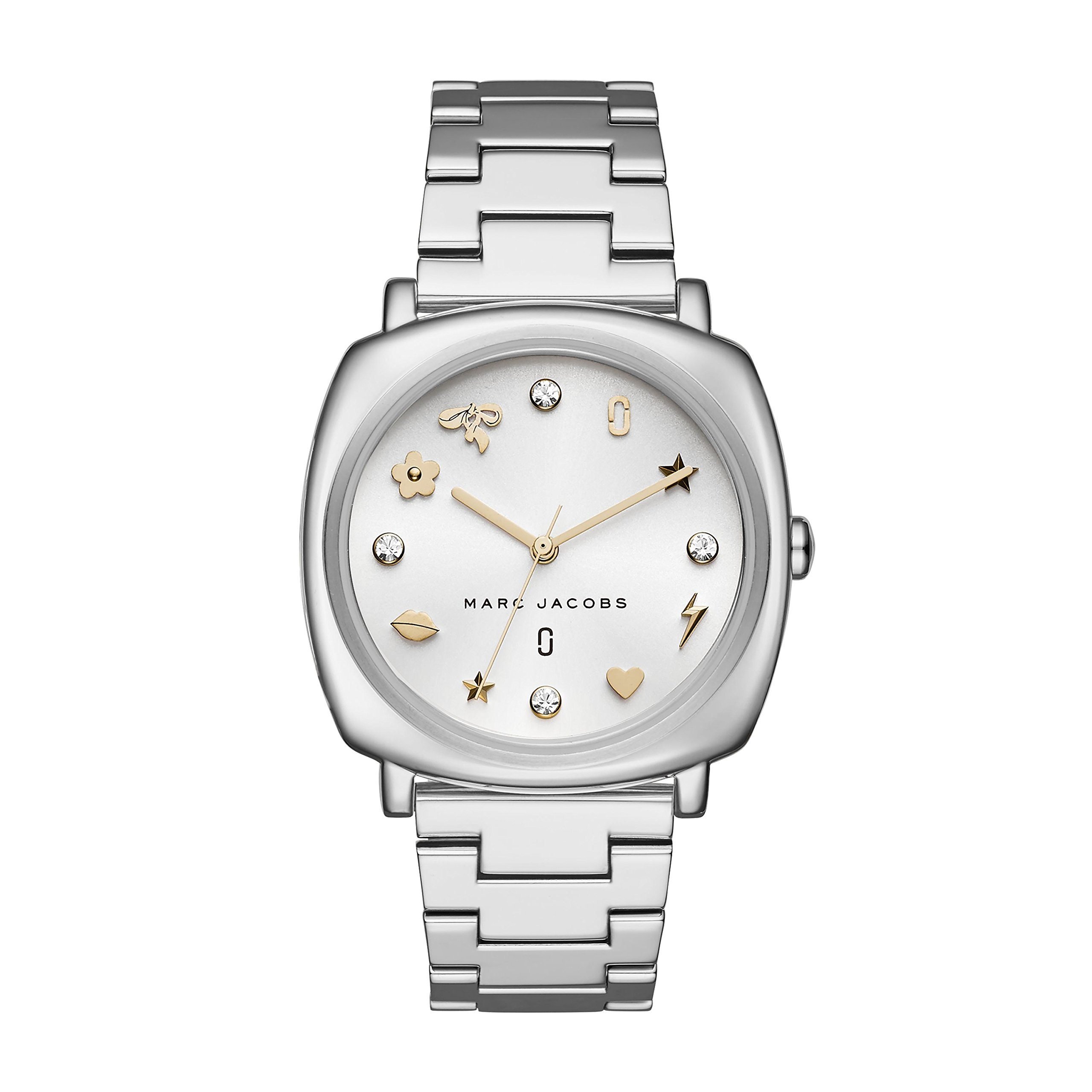 Marc Jacobs Women's 'Mandy' Quartz Stainless Steel Casual Watch, Color:Silver-Toned (Model: MJ3572)