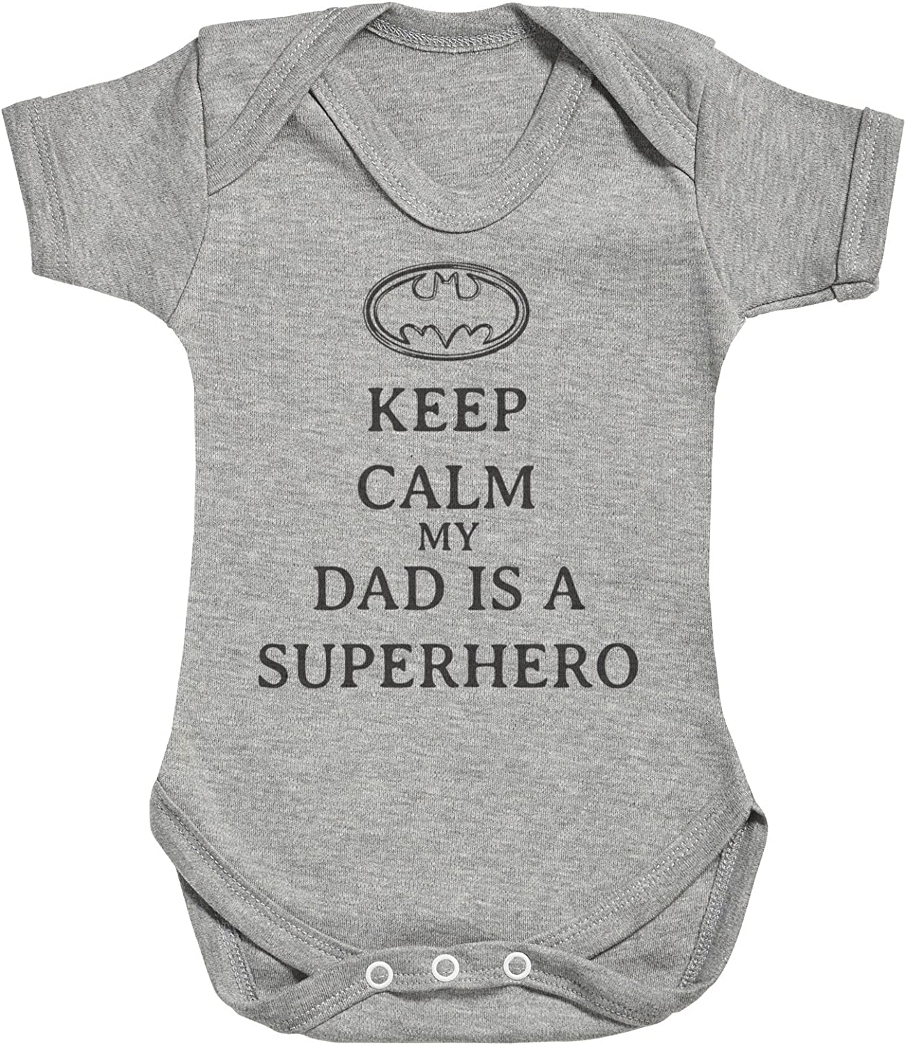 Matching Father Baby Gift Set Mens T Shirt /& Baby Bodysuit Keep Calm My Dad is A Hero