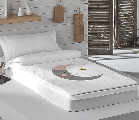 HACIENDO EL INDIO Saco Nórdico con Relleno Sleeping Moon Cama 90 cm