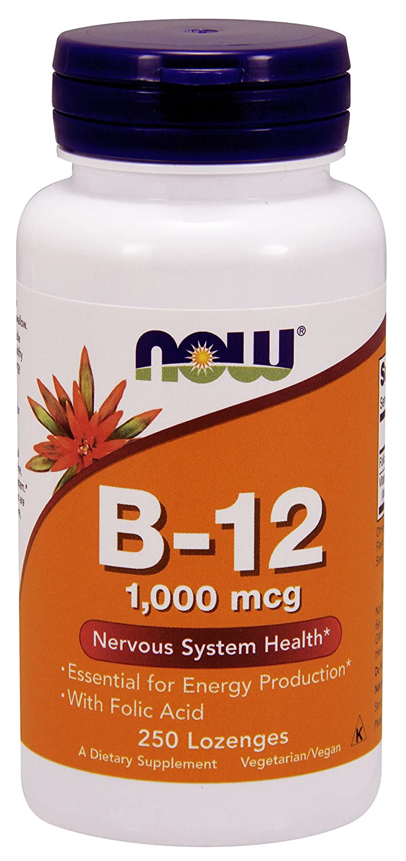 NOW Foods - B12 葉酸 1000 mcg の。 - 250トローチ B001F0R7YG   250 Lozenges