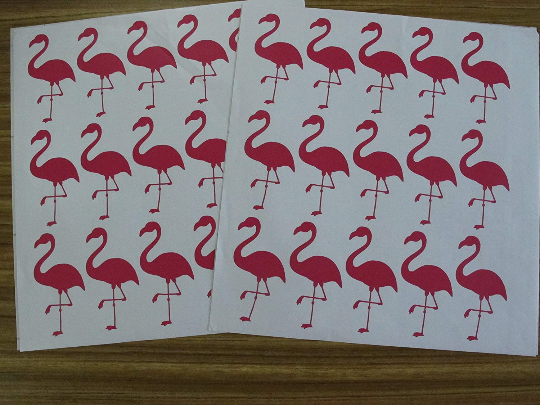 Hot pink Melissalove 30Pcs Flamingo Wall Decor Stickers Removable Kids Nursery Vinyl Wall Decal Baby Nursery Girl Bedroom Wall Art Wallpaper D364