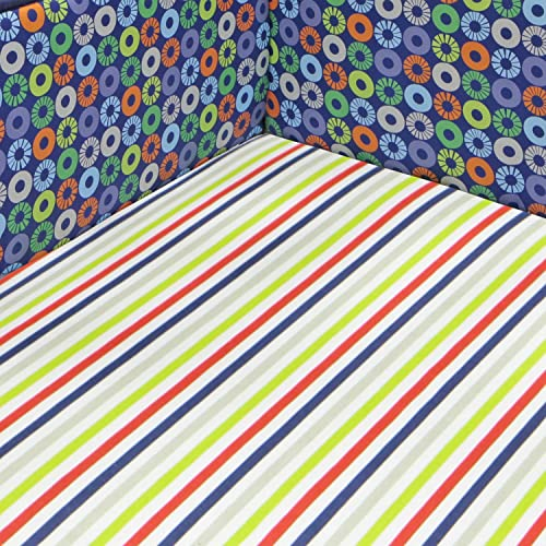 Bananafish Little Dino Fitted Crib Sheet Blue