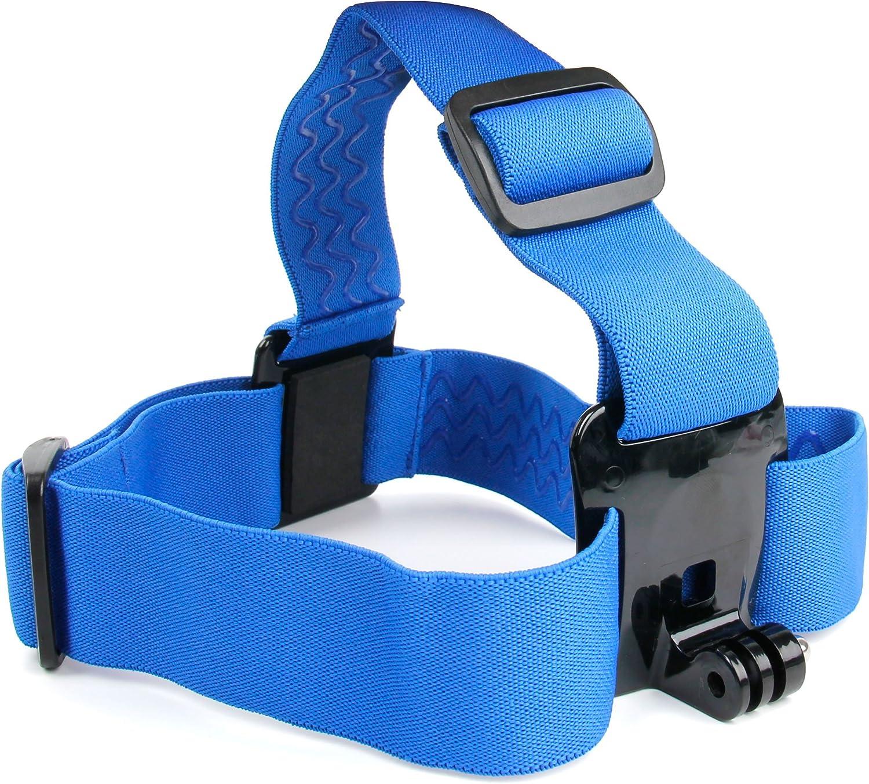 DURAGADGET Sky Blue Fully Adjustable Head Strap Mount for Smartphones