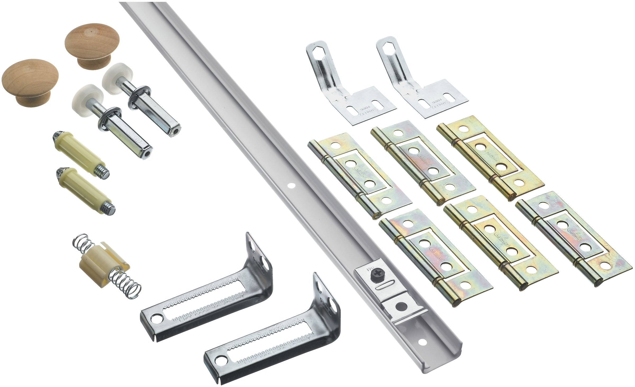Stanley National Hardware S402-044 BF30-00-48 Bifold Retail Set in White Coated