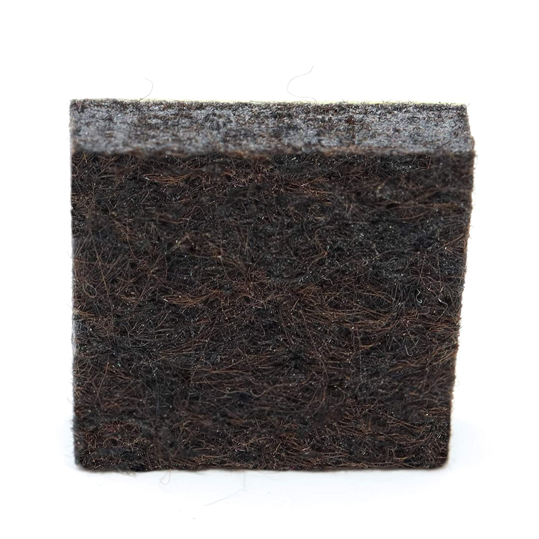4 x almohadillas de fieltro | 20x20 mm | marrón | quadrati | Patas de muebles adhesiva de la máxima calidad (5.5 mm) de Adsamm® Adsamm®