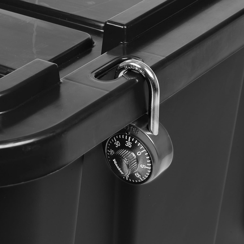 IRIS USA 589091 27 Gallon Utility Tough Tote 4 Pack Black//Gray 4 Piece